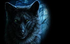 wolf eyes in the dark. Contemporary Dark Fantasy Portrait Of Wolf With Green Eyes In The Dark By Wolfroad For M