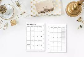 2019 And Or 2020 Monthly Planner Insert Calendar Fits Louis