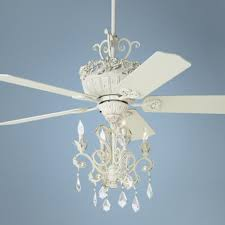 home and furniture marvelous ceiling fans with chandelier on 52 casa chic rubbed white fan