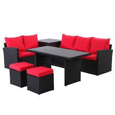 uberhaus 7 seat patio conversation set
