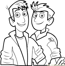 Small Picture Wild Kratts Coloring Page Free Wild Kratts Coloring Pages