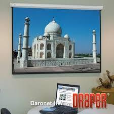 "<b>Draper Baronet</b> 82"" <b>HDTV</b> Matt White Motorized Screen | Canadian ..."