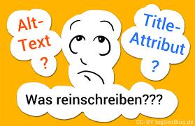Was soll man in Alt-Text und Title-Attribut schreiben? | tagSeoBlog ...