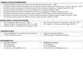 Sample Resume Translator Skills Interpreter Translator Cv Sample