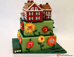 80th Farm House Birthday Cake