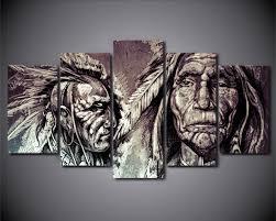 american indian art hd print 5 piece canvas art american indian art art prints and wall