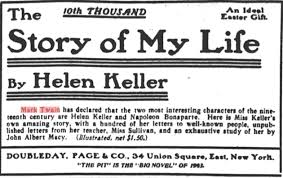 mark twain quotations helen keller helen keller book ad