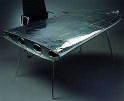 cool office desks. Then May We Suggest This Wing Desk, Made Out Of (you Guessed It) The Actual A Plane. Unique Desk Was By Dutch Designer Dolph Bode Cool Office Desks