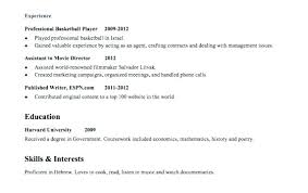 Resumes For Teenagers With No Work Experience Sample Resume