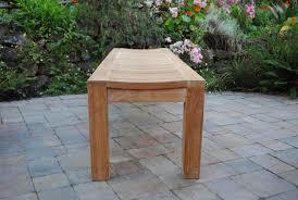 6backless garden bench