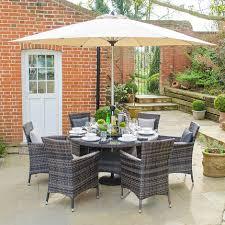 nova rattan garden furniture brown amelia 6 seat 1 3m round outdoor dining set