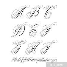 Fototapeta Vinylová Tetování Abeceda