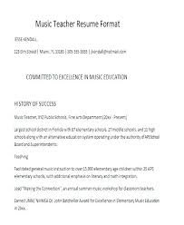 Resume Templates Teachers Classy Resume Templates Teacher Music Template Resumes In Word Free Premium