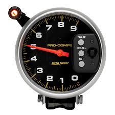 gauges pro comp 5 tachometer 0 9000 rpm pedestal w quick lite peak