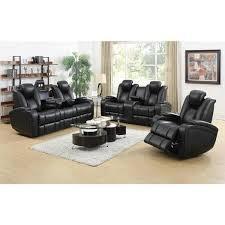 black living room sets. DeNatali 3-piece Black Living Room Set Sets B