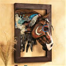 3d Wall Art 3d Horse Wall Art Indian Pony Wall Sculpture Your Western Decor