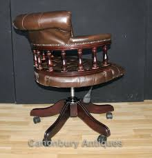 desk chairs wood desk chair uk captains office swivel chairs leather wooden antique wood
