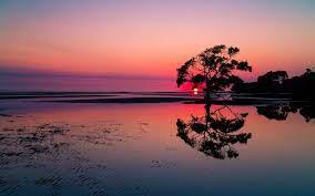 Beautiful Sunset Lake Landscape ...