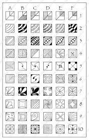 Square Fragments Patterns Chart 5 X 8 Digital Download
