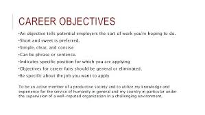 Job Objectives For A Resume – Administrativelawjudge.info