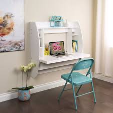 com prepac wall mounted floating desk with storage in white kitchen dining