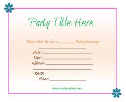 Birthday Invitation Templates Free Download Free Birthday Invitation Templates For Word Business Mentor