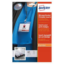 How To Print Avery Name Badges Avery Name Badges Laser Printable Refill Kit 8 Per Card W86 5xh55 5mm L7418 25uk 25 Sheets