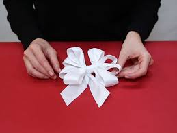 How To Make A Paper Ribbon Flower How To Make A Bow