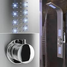 Edelstahl Regendusche Duscharmatur Duschpaneel Thermostat