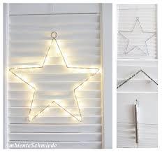 Lichterkranz Leuchtkranz Stern 30cm 40 Led Warm Weiß Fenster
