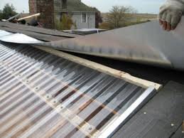 post ed with clear corrugated roofing sheets bq