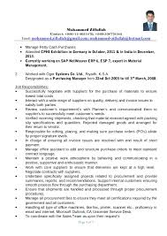 Sample Resume Of Purchase Manager 40 New Sample Resume For Supply