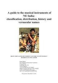 The most popular musical instrument used in north india is the tabla. Ne India Musical Instruments Pdf Roger Blench