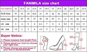 Women Sneaker Size Chart Fanimila Women Boots Pull On Shoes Handbags B076zhds3l
