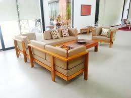teak wood sofa set made of premium grade of indonesian solid teak wood