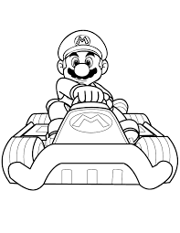 Blank Toad Mario Kart Racing Coloring Pages Coloring Pages