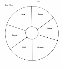 To view/print a free color wheel chart, click the respective link to open it, and select print from the menu. Blank Color Wheel Worksheet Free Download