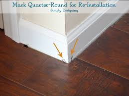 P How To Number Quarter Round And Trim Make ReInstallation Easy
