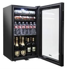 Beverage Refrigerator, Glass Door and Lock | Black | NewAir AB-1200B