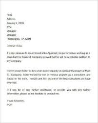 Samples Of Letters Recommendation Sample Letter For Employment For