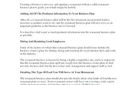 Restaurant Business Plan Sample Restaurant Business Plan Template Free Download Sample