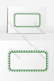 Green Snowflake Border Decorative Element Graphic Elements
