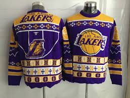 <b>Comfortable</b> And Dry Los Angeles Lakers <b>Crew Neck Men's</b> Ugly ...