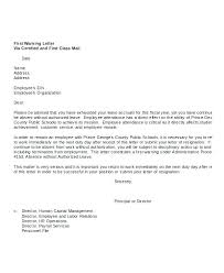 Hr Warning Letter Employee Warning Notice Template Word