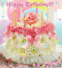 Pastel Floral Happy Birthday Cake Gif Pictures Photos And Images