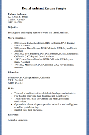 Resume Examples For Dental Assistants Beauteous Dental Assistant Resume Sample Richard Anderson 48 West 48 Street