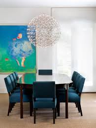 Blue Dining Room Chairs Design Home Design Ideas Picture Gallery - Modern white dining room sets