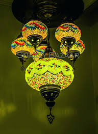 home improvement shows uk handmade 6 globe mosaic chandelier celestial design lime light snazzy bazaar celesti