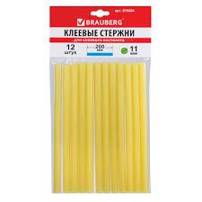 <b>Клеевые стержни</b>, <b>диаметр 11</b> мм, длина 200 мм, желтые ...