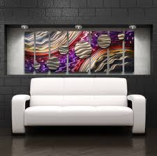 purple red and orange metal panel art abstract metal circles wall  on large metal wall art red with grand finale 68 x24 large modern abstract metal wall art sculpture